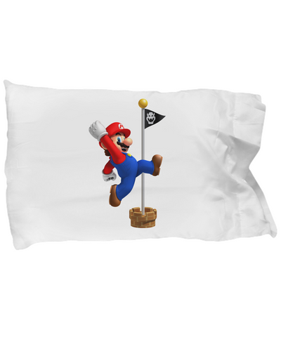 Mario Brothers Bedding Pillows Hoping on A Pole - lkrseller shirts Pillow Case, t-shirts, hoodies, tank tops, custom