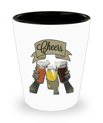 Cheers To Diversity Beers Pints Shot Glass - lkrseller, Shot Glass ,