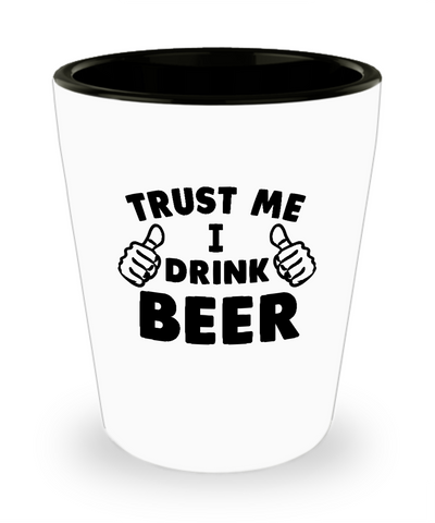 Trust Me I Drink beer This Guy Thumbs Shot Glass - lkrseller, Shot Glass ,