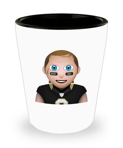 New Orleans Football Quarterback Drinking Shot Glass - lkrseller, Shot Glass ,