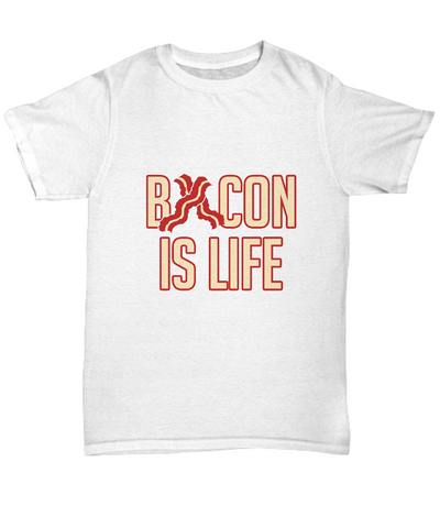 Bacon is Life Stripes of Bacon Foodie T-Shirt - lkrseller, Men's Shirts ,