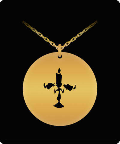 Enesco Chandelier Beauty And The Beast Laser Cut Pendent Necklace - lkrseller, Laser Engraved Necklace ,