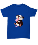 Panda Licking Ice Cream Cute Strawberry T-Shirt - lkrseller, Shirt / Hoodie ,