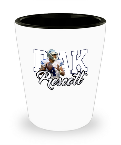 Dak Football Player Quarter back Drinking Shot Glass - lkrseller, Shot Glass ,