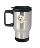 Cute Dog Relaxing Laying Down Pet Lovers Travel Mug - lkrseller, Travel Mug ,