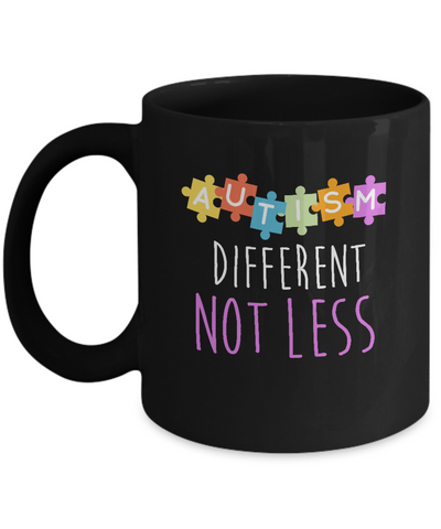 Autism Different Not Less Puzzle Awareness Coffee Mug - lkrseller, Mugs ,