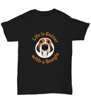 Life Is Better With A Beagle Dog Pet T-Shirt - lkrseller, Shirt / Hoodie ,