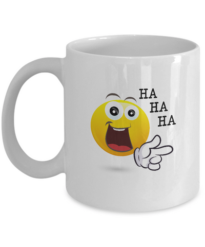 Ha Ha Ha Smiling Funny Emoji Pointing - lkrseller, Mugs ,