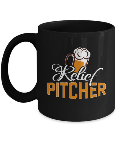 Relief Pitcher Beer Pint Glass Coffee Mug - lkrseller, Mugs ,