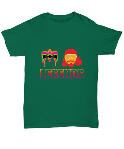 Legends Wrestling Randy Savage And Ultimate Warrior T-Shirt - lkrseller, Men's Shirts ,
