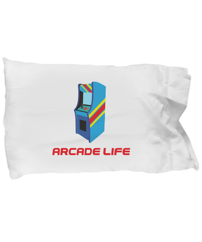 Arcade Life Video Game Gamer Old School Classic Bedding Pillow Case - lkrseller, Pillow Case ,