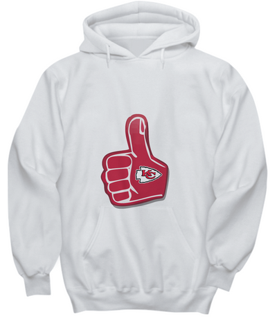 Kansas Foam Finger Sweater Thumbs Up Fan Hoodie - lkrseller, Shirt / Hoodie ,