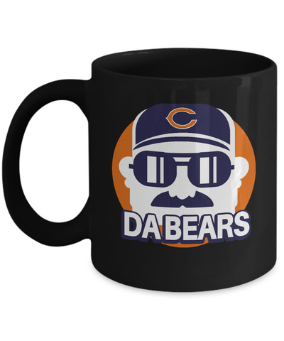 Chicago Football Mustache Head Coach Mug - lkrseller, Mugs ,