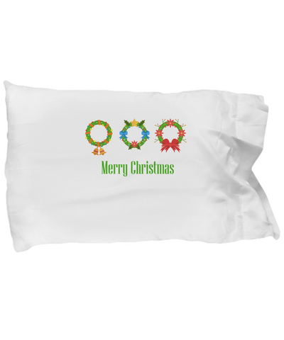 Merry Christmas Reef Bell Pine Bow Xmas Bedding Pillow Case - lkrseller shirts Pillow Case, t-shirts, hoodies, tank tops, custom