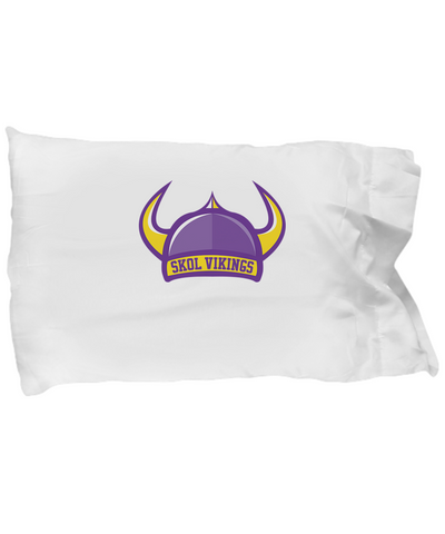 Skol Vikings Football Hat Horns Purple And Yellow Bedding Pillow Case - lkrseller shirts Pillow Case, t-shirts, hoodies, tank tops, custom