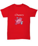 Cheers Drinking Funny Cat Laying Down Martini Glass T-Shirt - lkrseller, Shirt / Hoodie ,