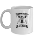 Sunday Funday Raiders And Beers Football Drinking Coffee Mug - lkrseller, Coffee Mug ,