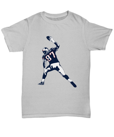 Pats Tight End Gronk Football Spike TD T-Shirt - lkrseller, Shirt / Hoodie ,