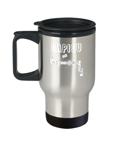 Capicu Dominoes Bones Latin Game Travel Mug - lkrseller, Travel Mug ,