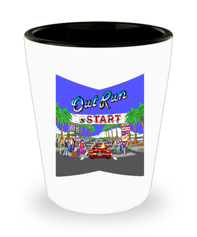 Outrun Racing Arcade Car Game Drinking Shot Glass - lkrseller, Shot Glass ,