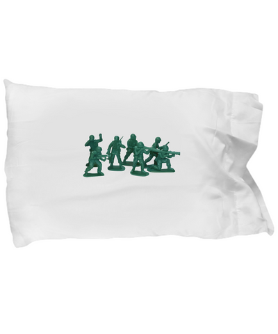 Army Men Toy Figures Plastic Green Bedding Pillow Case - lkrseller, Pillow Case ,