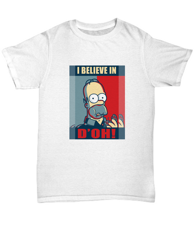 I Believe in D'Oh! Funny Cartoons Food Doughnut T-Shirt - lkrseller, Shirt / Hoodie ,