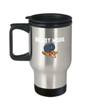 Beast Mode Dog Working Out Bench Press Travel Mug - lkrseller, Travel Mug ,