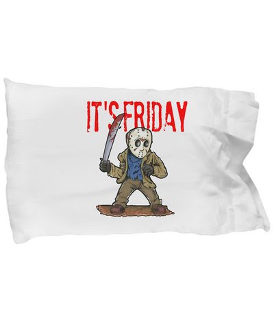 It's Friday Funny Halloween Character Jason Mask Pillow Case - lkrseller, Pillow Case ,