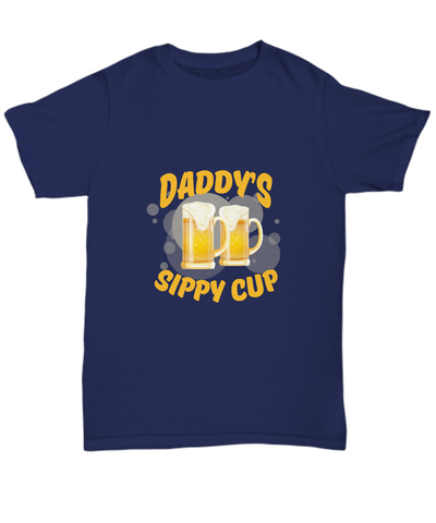 Daddy's Sippy Cup Funny Beer Drinking Dad T-Shirt - lkrseller, Men's T-Shirts ,