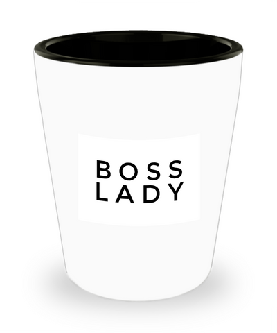 Boss Lady Female Ladies Drinking Shot Glass - lkrseller, Shot Glass ,