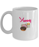 Yummy Frosted Sweet Doughnuts Lover Drinking Coffee Mug - lkrseller, Coffee Mug ,