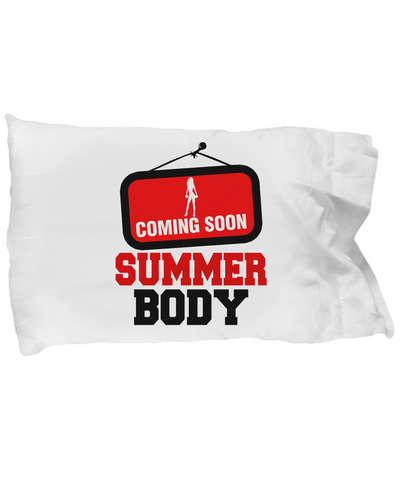 Coming Soon Summer Body Workout Fitness Sign Bedding Pillow Case - lkrseller, Pillow Case ,