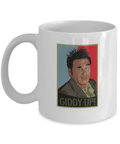 Giddy up! Funny Kramer TV Show Coffee Mug - lkrseller, Mugs ,