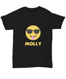 Molly Emjoi Tongue Out With Shades Party Tripping T-Shirt - lkrseller shirts Shirt / Hoodie, t-shirts, hoodies, tank tops, custom