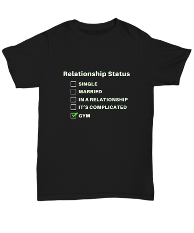 Relationship Status Single Married Gym Funny T-Shirt - lkrseller, Shirt / Hoodie ,