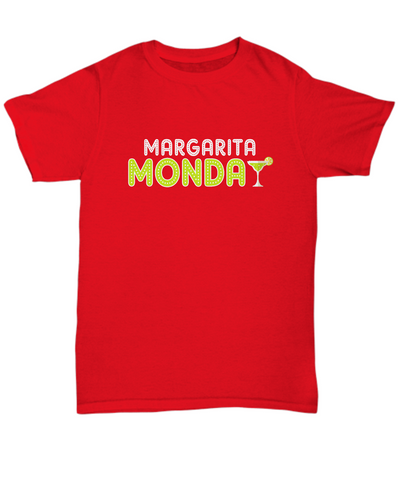 Margarita Monday Glass Lime Funny Drinking T-Shirt - lkrseller, Shirt / Hoodie ,