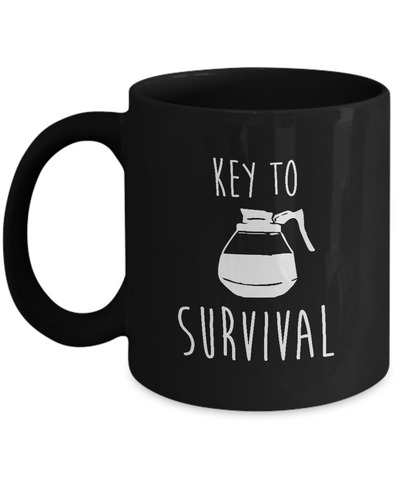 Key To Survival Coffee Pot Mug Lover - lkrseller, Mugs ,
