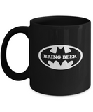 Bring Beer Super Hero Funny Coffee Mug - lkrseller, Coffee Mug ,