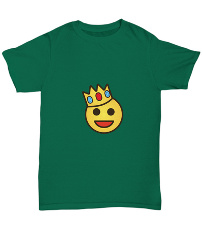 Cute Emoji King Crown T-Shirt - lkrseller, Shirt / Hoodie ,