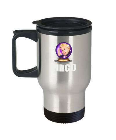 Walter Mercado El Mundo Zodiac Virgo Travel Mug - lkrseller, Travel Mug ,