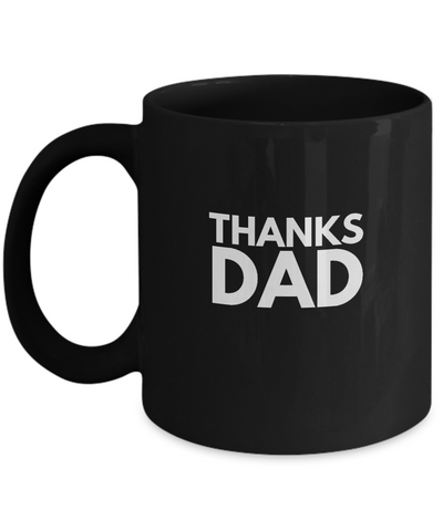 Thanks Dad Drinking Coffee Mug Father's Day Gift - lkrseller, Mugs ,