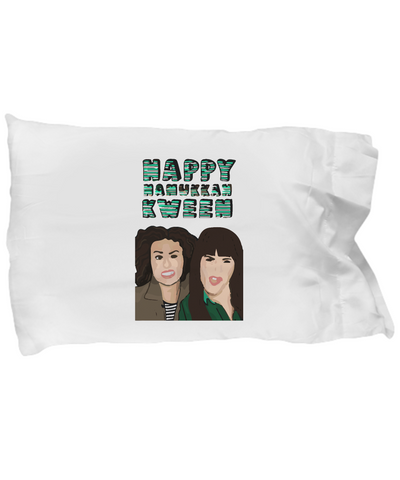 Happy Hanukkan Kween Broad City Bedding Pillow Case - lkrseller shirts Pillow Case, t-shirts, hoodies, tank tops, custom