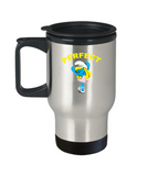 Perfect Cartoon Girl Smurfette Blue Travel Mug - lkrseller, Travel Mug ,