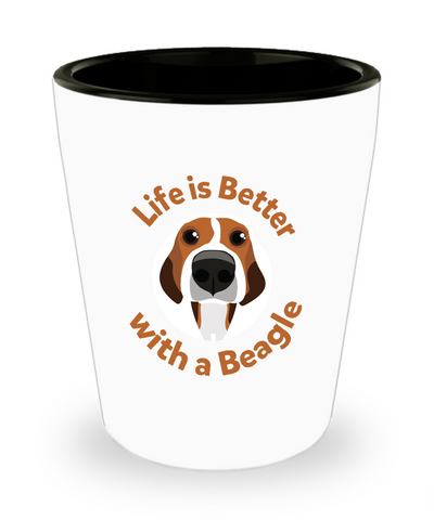 Life Is Better With A Beagle Dog Pet Drinking Shot Glass - lkrseller shirts Shot Glass, t-shirts, hoodies, tank tops, custom