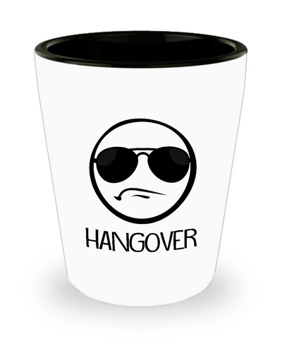 Hangover Shades Funny Cute Emoji Drinking Shot Glass - lkrseller, Shot Glass ,