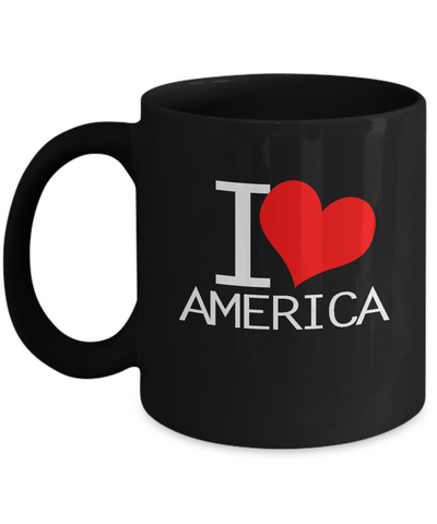 I Love America USA United States Coffee Mug - lkrseller, Mugs ,