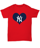 New York Baseball Heart Lover Bx Bomber Baseball T-Shirt - lkrseller, Men's T-Shirts ,