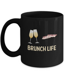 Brunch Life Mimosa Bacon Breakfast Coffee Mug - lkrseller, Coffee Mug ,