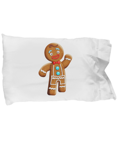 Gingerman Cookie Cute Character Christmas Bedding Pillow Case - lkrseller, Pillow Case ,