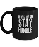 Work Hard Stay Humble Motivation Coffee Mug - lkrseller, Mugs ,